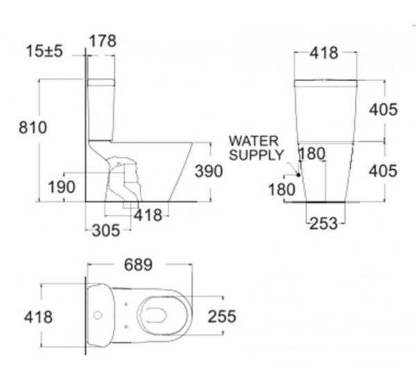 American Standard TF2103 Tonic close coupled water closet