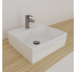 Johnson Suisse 111WW Gemelli Square Above Counter Basin 1 Tap Hole