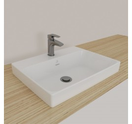Johnson Suisse 131WW Gemelli Square Semi Insert Basin 1 Tap Hole