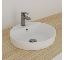 Johnson Suisse 151WW Gemelli Round Semi Insert Basin 1 Tap Hole