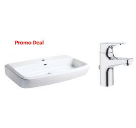 Johnson Suisse Lucca 550 Basin With Bauflow Basin Mixer