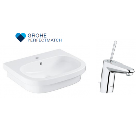 Grohe Eurosmart Basin With Eurodisc Joy Basin Mixer