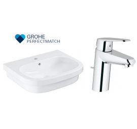 Grohe Eurosmart Basin WIth Eurodisc Basin Mixer