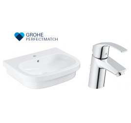 Grohe Eurosmart Basin With Eurosmart Basin Mixer