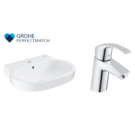 Grohe Eurocosmo Basin With EuroSmart Basin Mixer