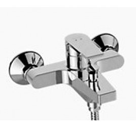 Kohler Taut Exposed Wall-Mount Bath and Shower Faucet K-74036T-4E2-CP