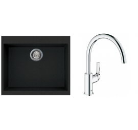Rubine MEQ 810-61 With Grohe Baucurve Sink Mixer