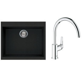 Rubine MEQ 810-61 With Grohe Bauflow Sink Mixer
