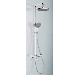 Rubine RSC-Thermo-R31-BK Rain Shower Column Set