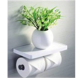 Tuscani ASSPH 2 Double Paper Holder WIth Shelf