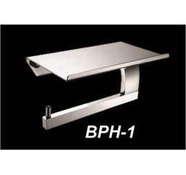 Tuscani BPH - 1 Brass Paper Holder With Shelf