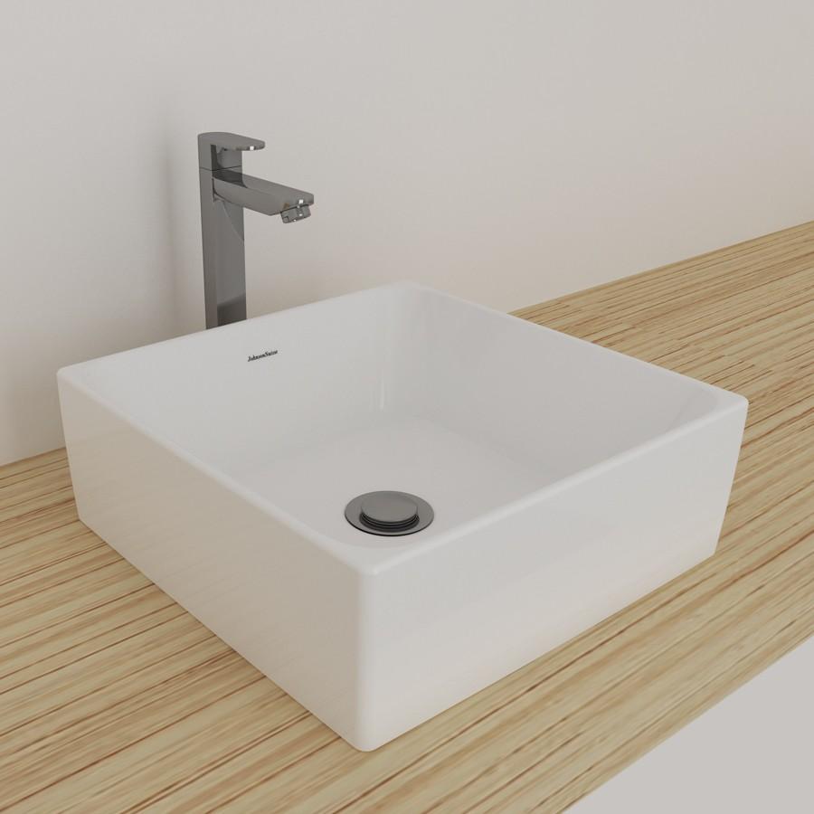 Black Kitchen Sink Malaysia: Johnson Suisse 100WW Gemelli Square Above Counter Basin