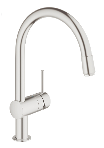 Grohe 32918DC0 Minta C-spout SuperSteel